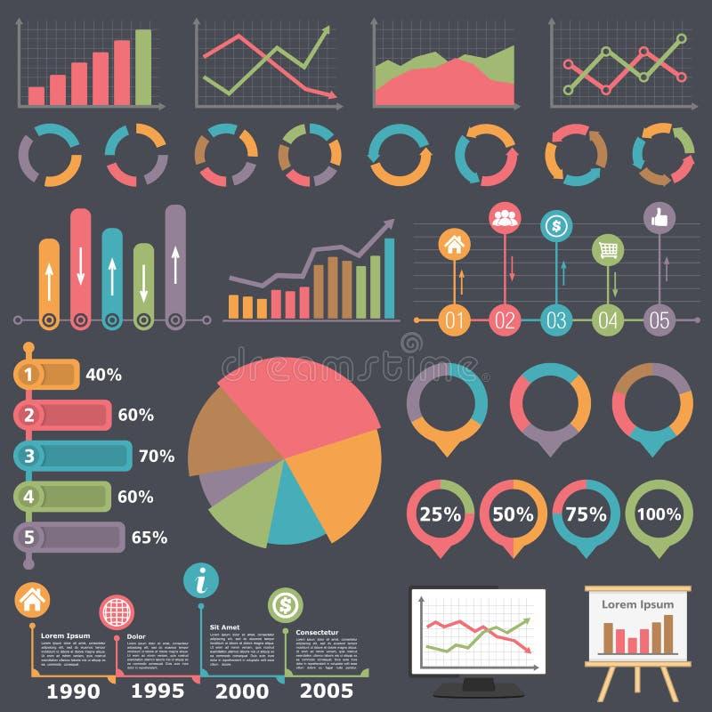 企业infographic要素 库存例证