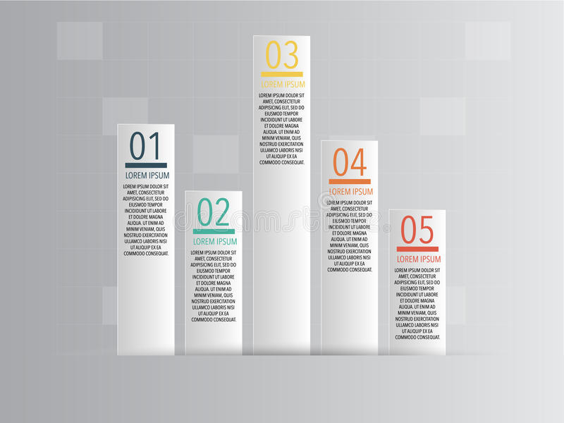企业Infographics传染媒介例证 库存照片