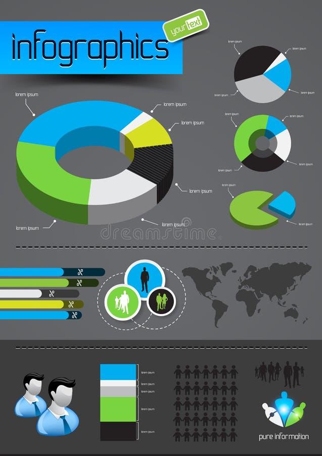 企业infographics向量