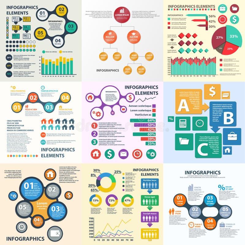 企业infographics圈子origami样式 能为工作流布局,横幅,图,数字选择使用,提高选择网 库存例证