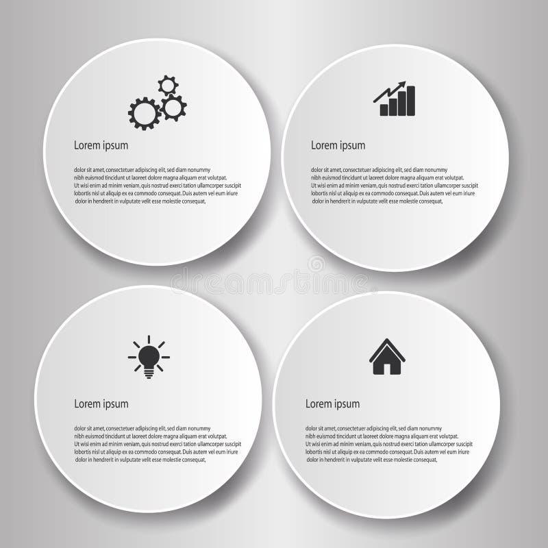 企业Infographics样式传染媒介例证 库存例证