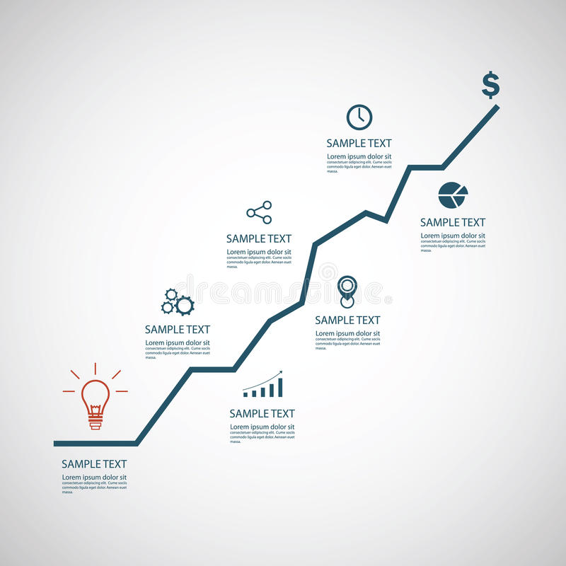 企业infographics模板 库存例证