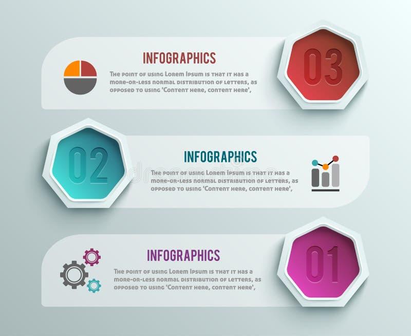 企业infographics横幅origami样式 库存例证