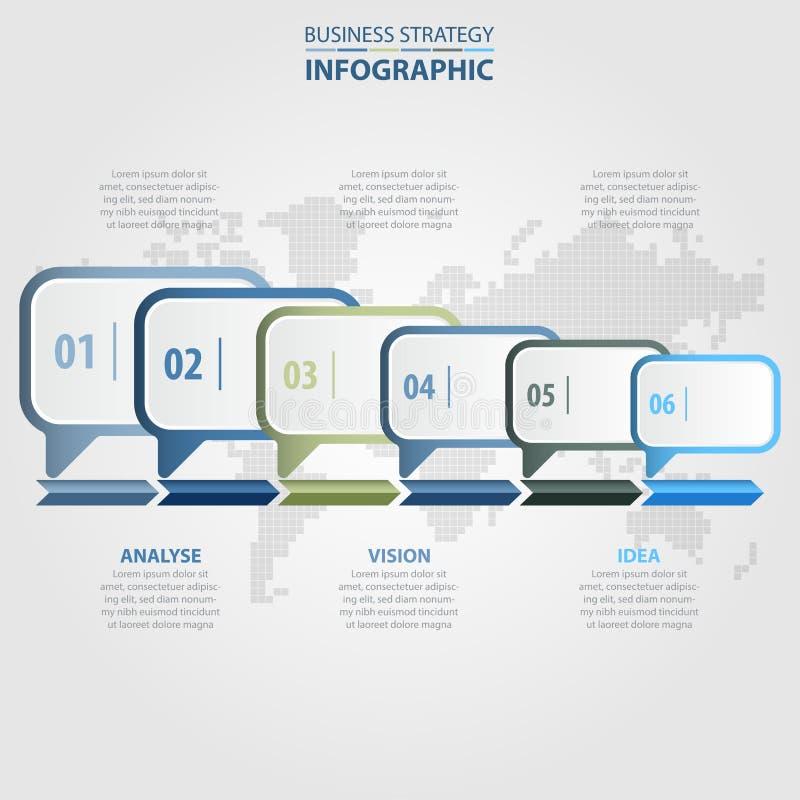 企业Infographics设计元素信息框 皇族释放例证