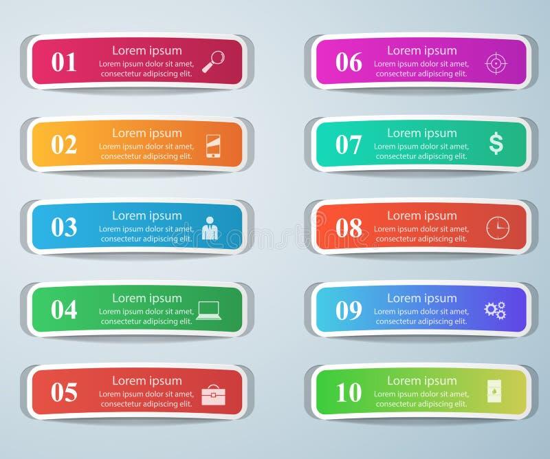 企业Infographics origami样式传染媒介例证 名单  皇族释放例证