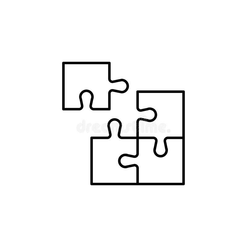 企业seo,难题线象 在想法的配合 E 向量例证