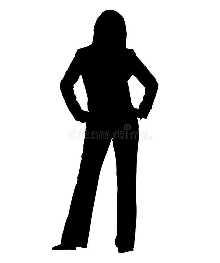 企业silhuette妇女 库存例证