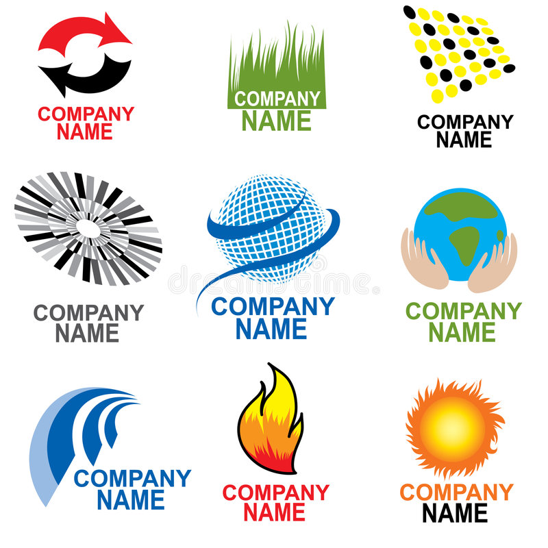企业simbols 向量例证