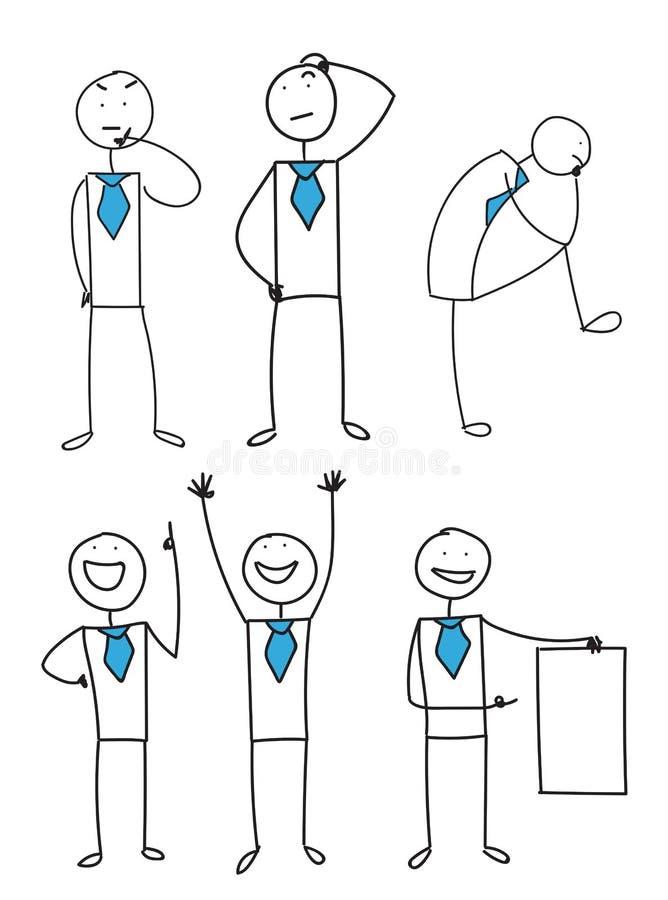 企业stickman集合 向量例证