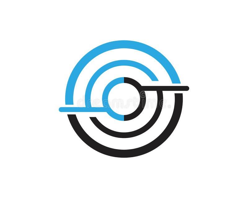 企业techno线商标设计观念 向量例证