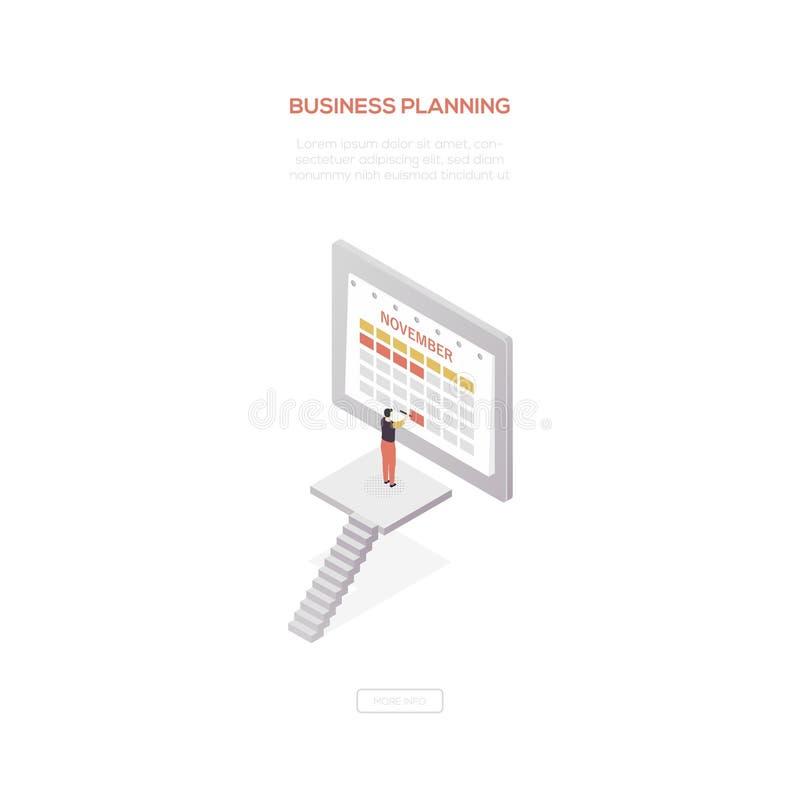 企划-现代等量传染媒介网横幅 向量例证