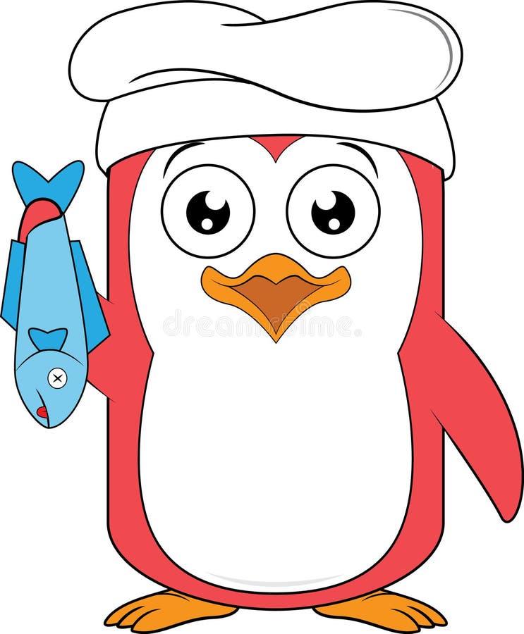 企鹅吉祥人厨师 库存例证
