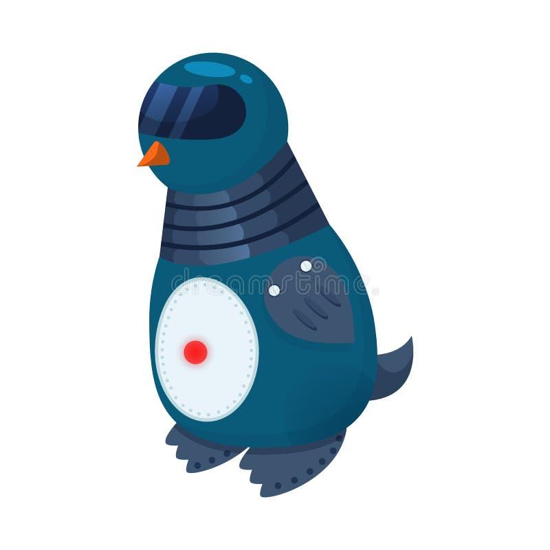 企鹅和动物标志传染媒介设计  企鹅和机器人储蓄传染媒介例证的汇集 向量例证