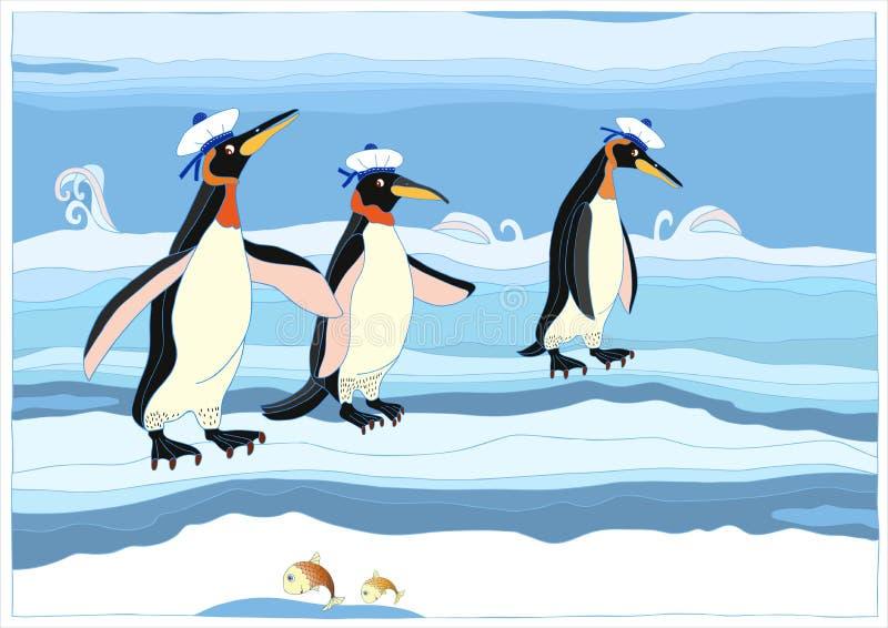 企鹅 向量例证