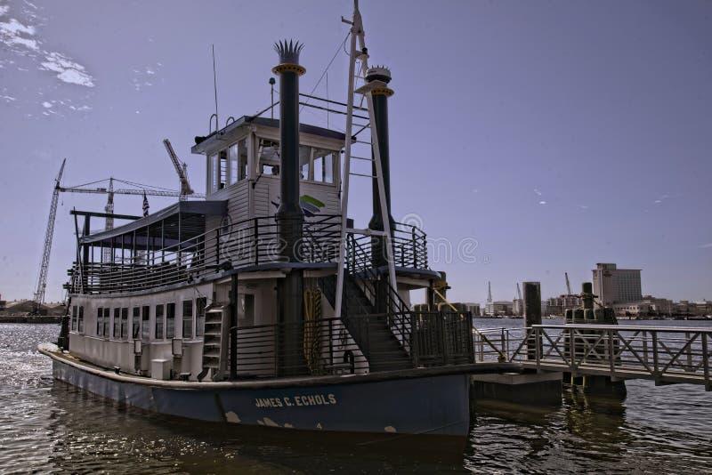 伊丽莎白河轮渡 库存照片