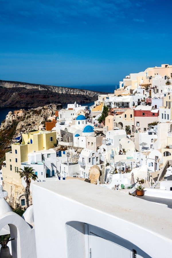 伊亚、圣托里尼、希腊、欧洲 免版税库存图片