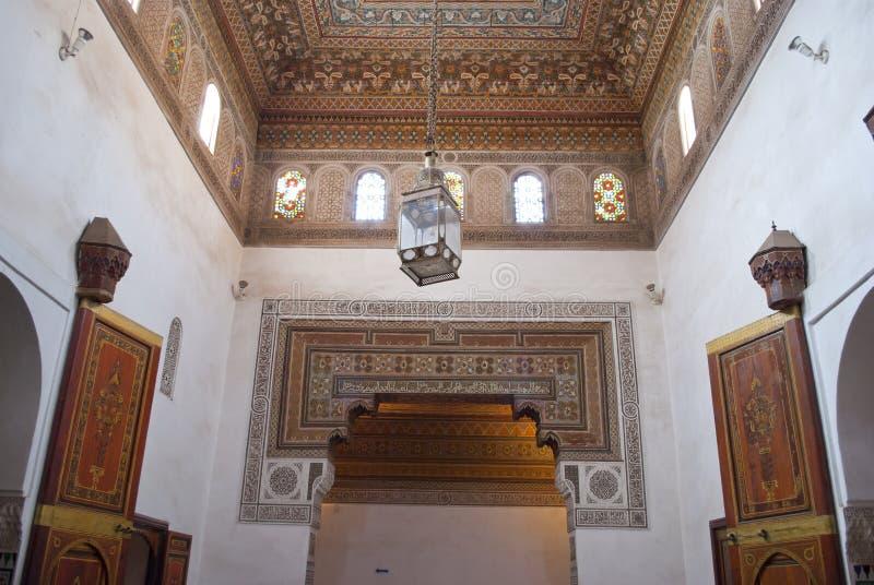 巴伊亚宫殿在马拉喀什 库存照片