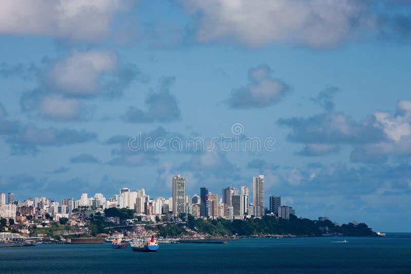 巴伊亚巴西的萨尔瓦多Todos桑托斯海湾  库存图片