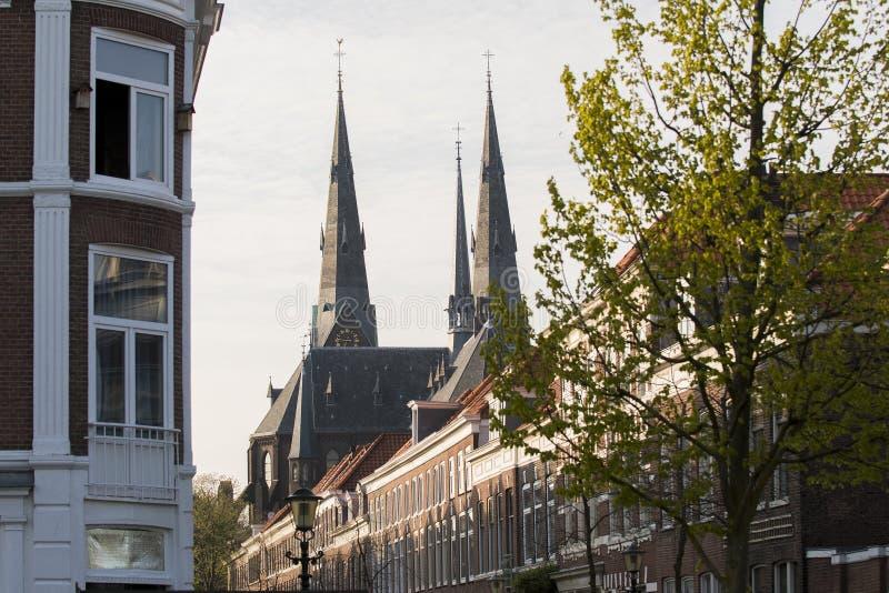 伊兰教会在海牙,小室Haag,荷兰 库存照片