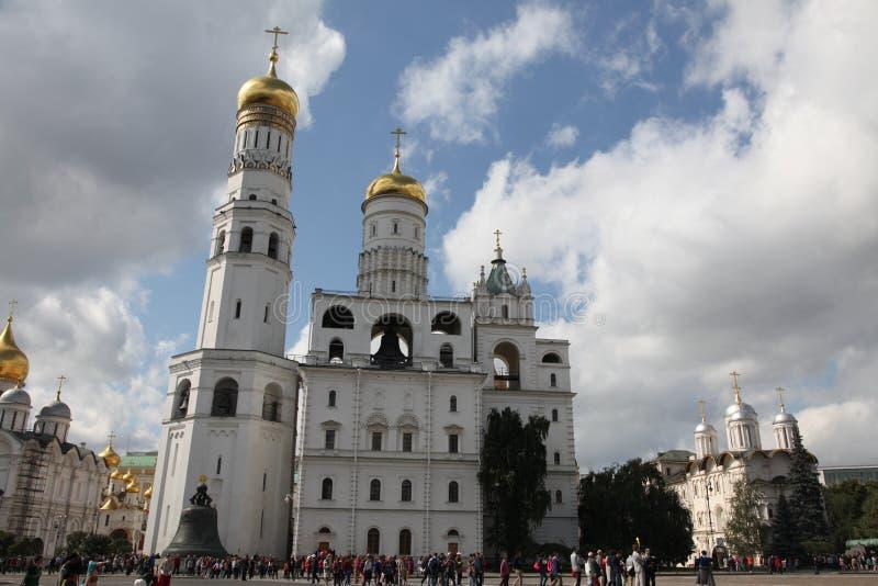 伊冯伟大的钟楼在克里姆林宫 莫斯科 俄国 免版税图库摄影