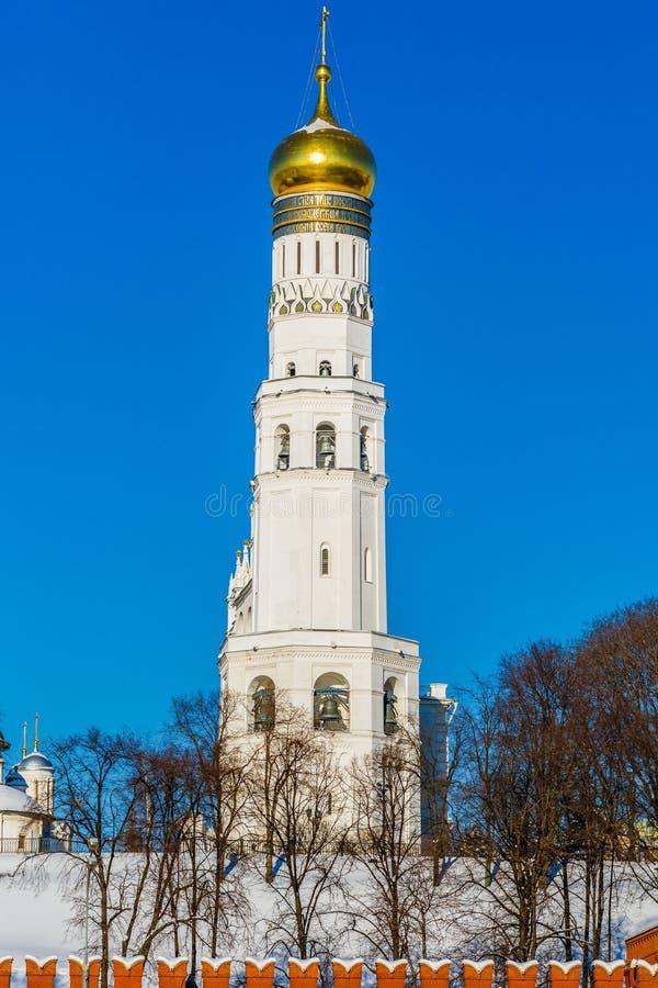 伊冯克里姆林宫伟大的钟楼  免版税图库摄影