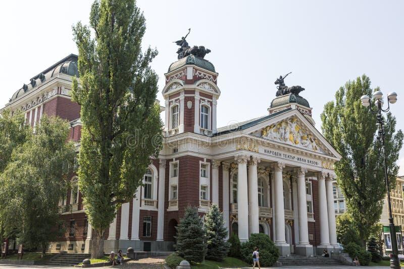 伊冯Vazov全国戏曲剧院在索非亚,保加利亚 免版税库存照片