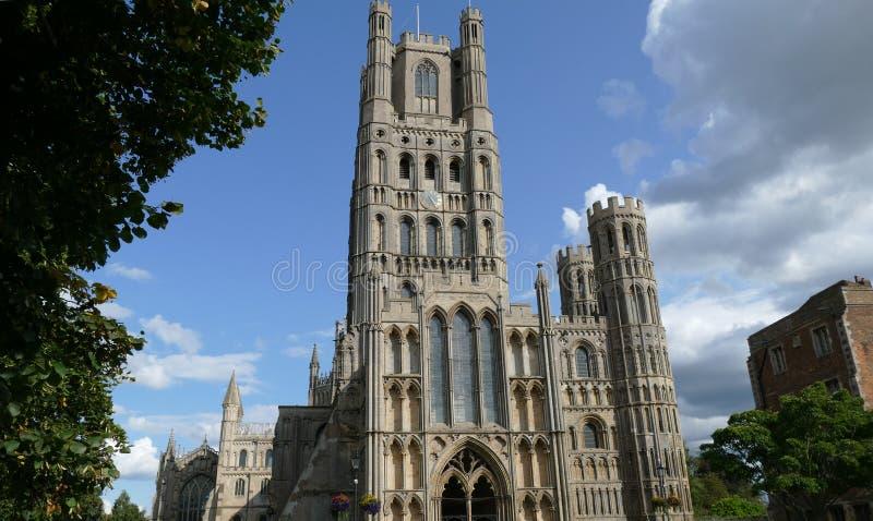 伊利大教堂外部在剑桥郡-英国 免版税图库摄影