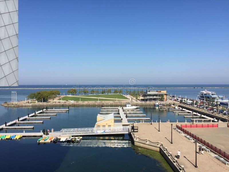 伊利湖小游艇船坞 图库摄影