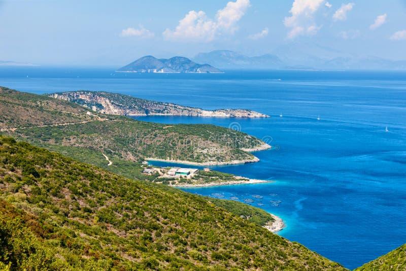 伊塔卡海岛在希腊 库存图片