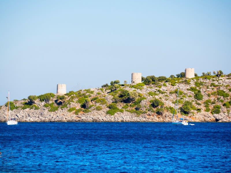 伊塔卡海岛在希腊 免版税库存照片