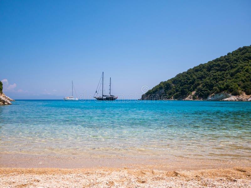 伊塔卡海岛在希腊 库存照片