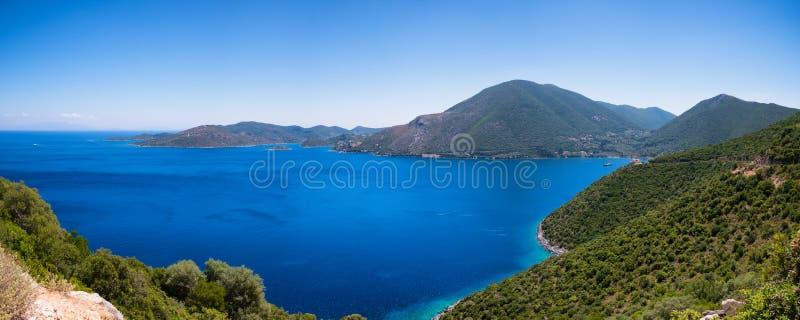伊塔卡海岛在希腊 免版税库存图片