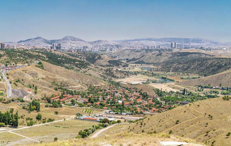 伊姆拉霍尔谷,靠近土耳其安卡拉市穆惠村 免版税库存照片