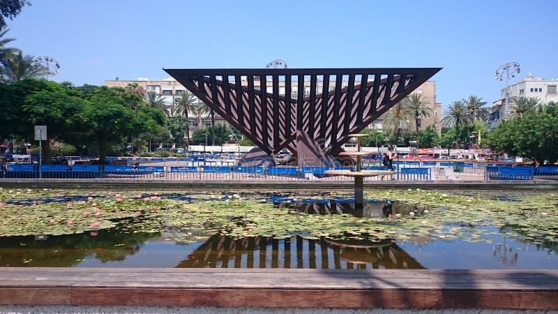 伊扎克・拉宾广场在特拉维夫-以色列 免版税库存照片