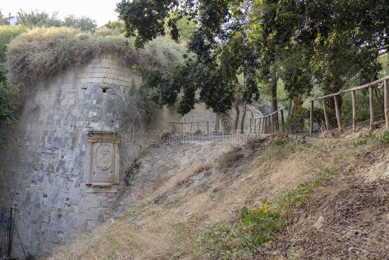 伊拉克利翁,克利特威尼斯式墙壁  库存照片