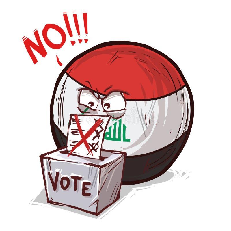 伊拉克国家投反对票的投赞成票 向量例证