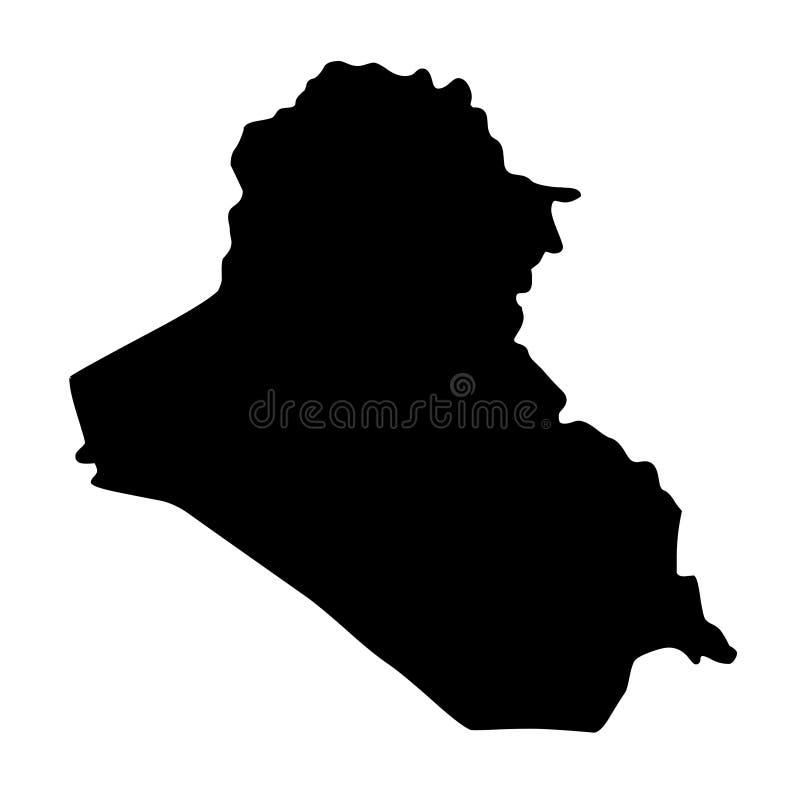 伊拉克地图剪影传染媒介例证 皇族释放例证