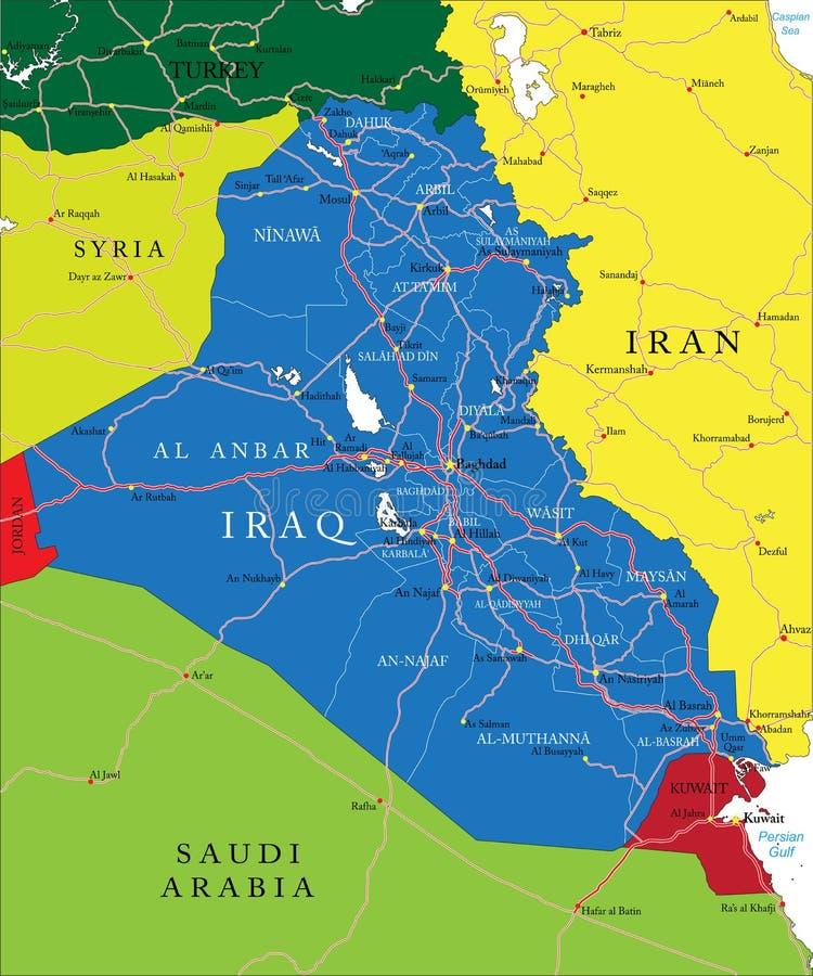 伊拉克地图 皇族释放例证