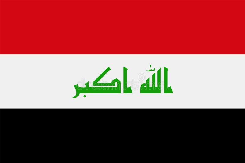 伊拉克旗子传染媒介平的象 向量例证
