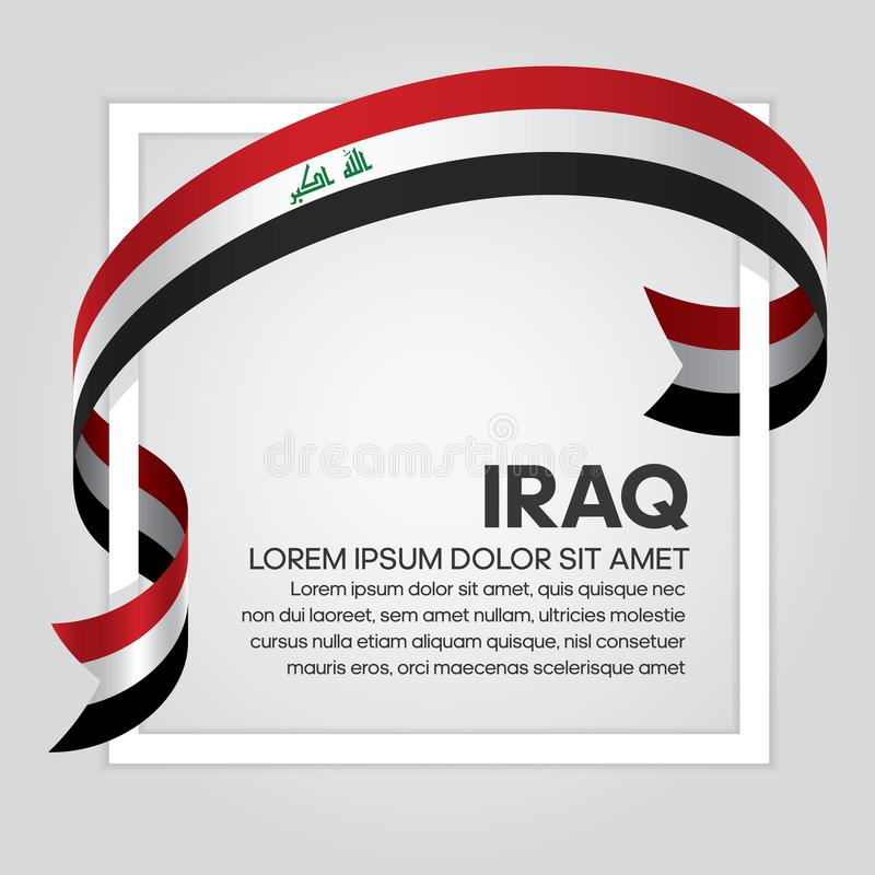 伊拉克旗子背景 库存例证