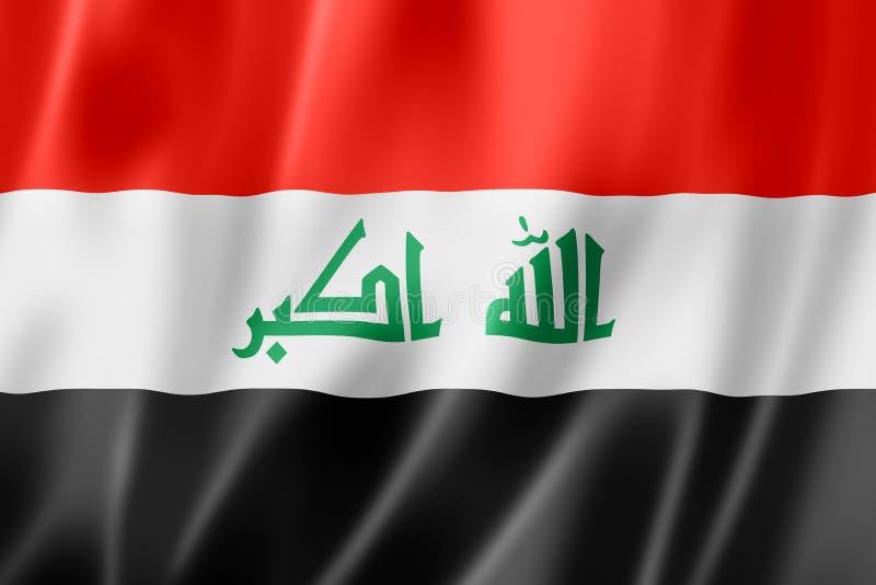 伊拉克旗子 皇族释放例证