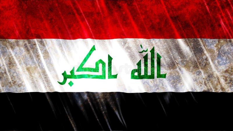 伊拉克旗子 库存图片