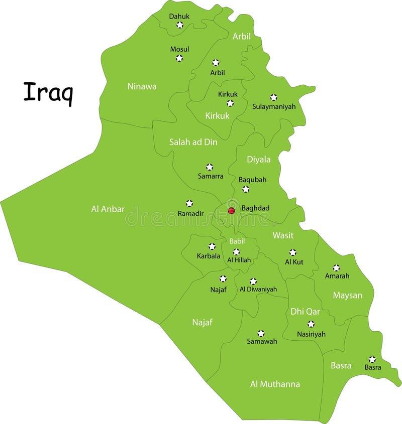 伊拉克映射 库存例证