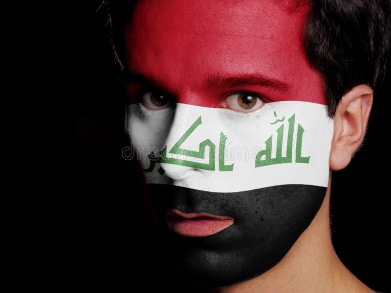 伊拉克的旗子 库存照片