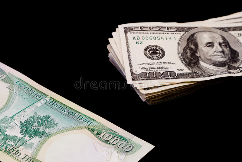 伊拉克语的第纳尔 免版税库存图片