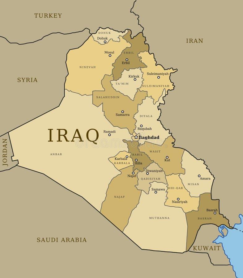 伊拉克 向量例证
