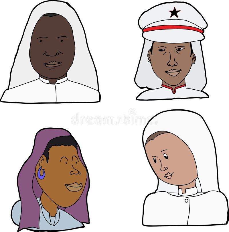 伊斯兰国家妇女 向量例证
