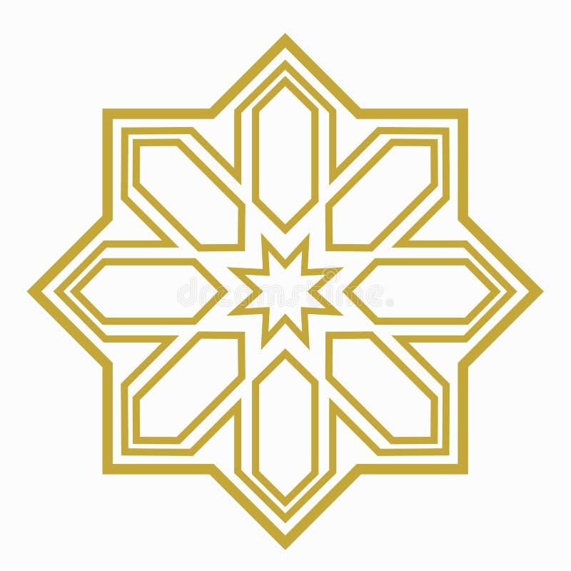 伊斯兰教或阿拉伯形状 向量例证