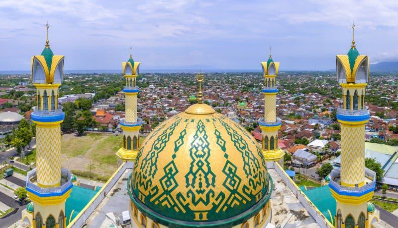 伊斯兰教的中心清真寺在马塔兰 免版税库存照片