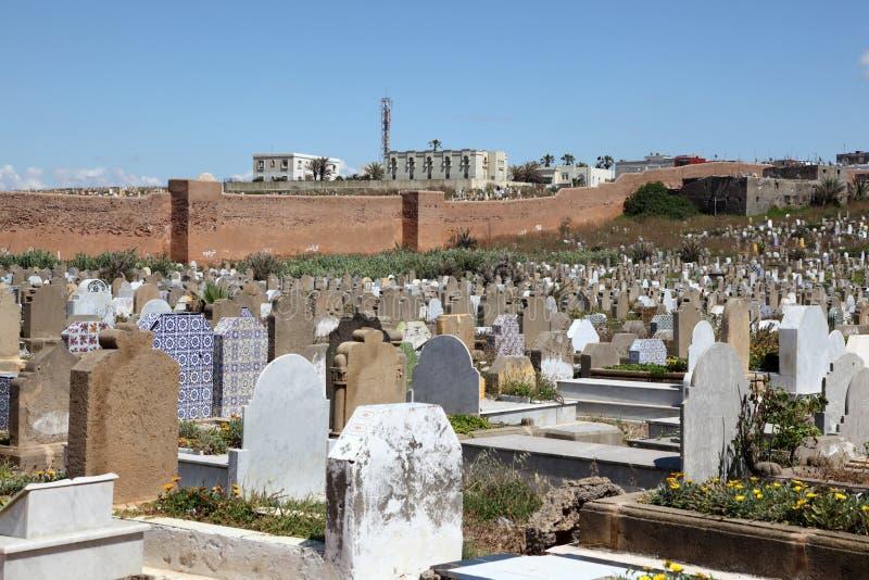 伊斯兰教的坟园在拉巴特,摩洛哥 免版税库存图片